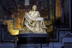 Italy, Rome, St Peter's Basilica, Pieta