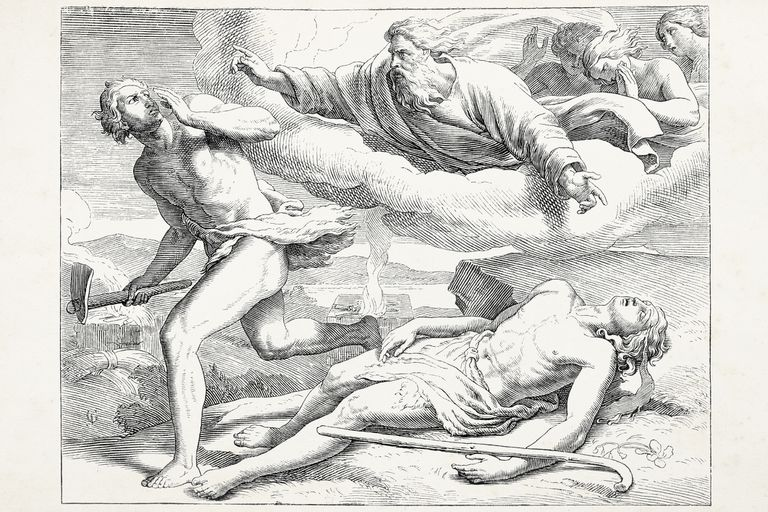 Cain killing Abel punished by god
