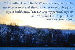 Lamentations 3:22-24 - Enough for Today