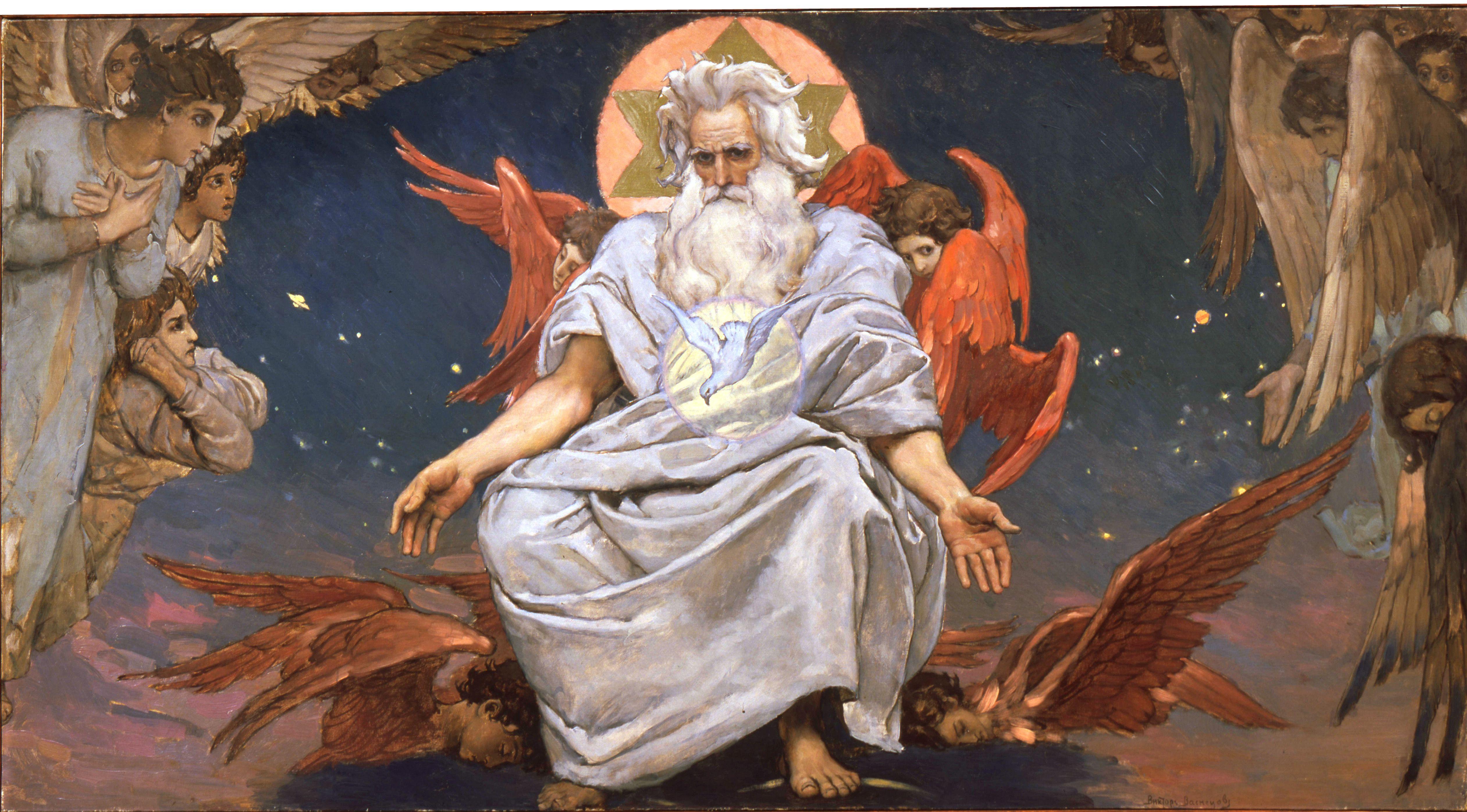 'God the Father', 1885-1896. Artist: Viktor Mihajlovic Vasnecov
