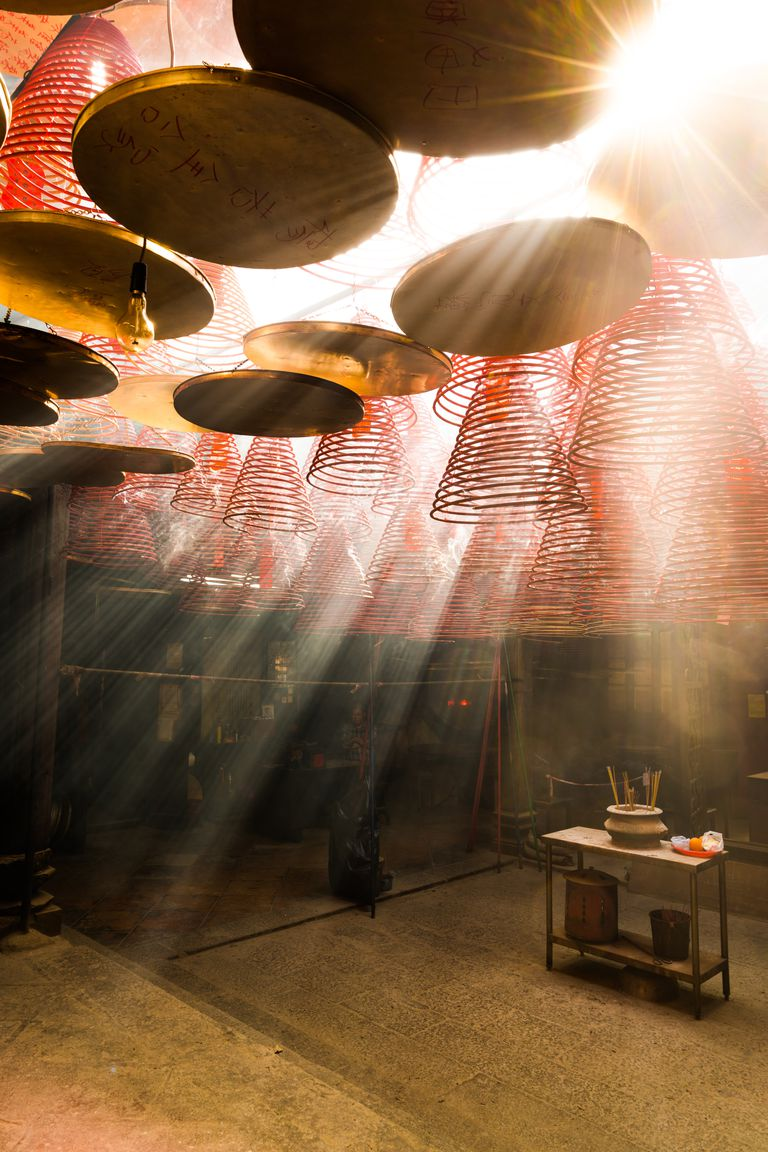 Sunlight Coming Inside Man Mo Temple