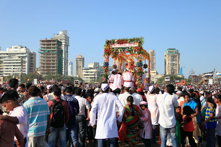 Ganesha Chaturthi in Mumbai, INDIA