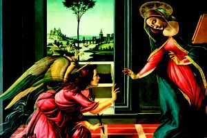 depiction of the Annunciation of the Lord