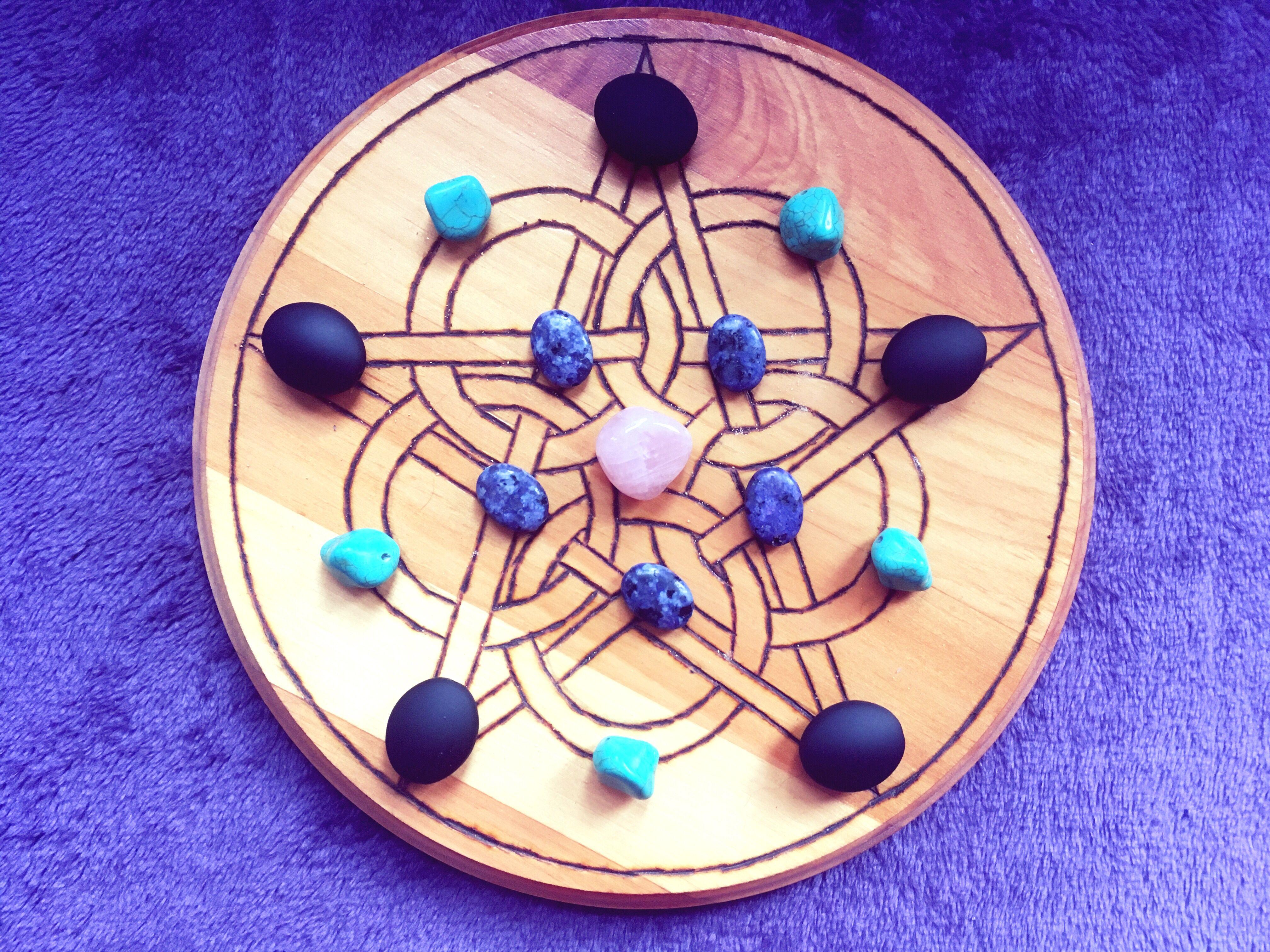 Crystal Grid on a Pentacle