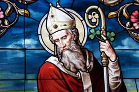 St Patrick in Stained Glass