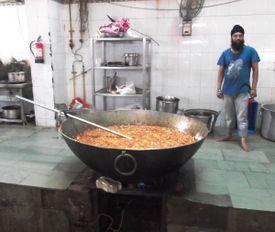 Langar Kitchen at Gurdwara Bangla Sahib