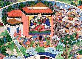 Realm of the Gods, From the Wheel of Life (Bhavachakra)