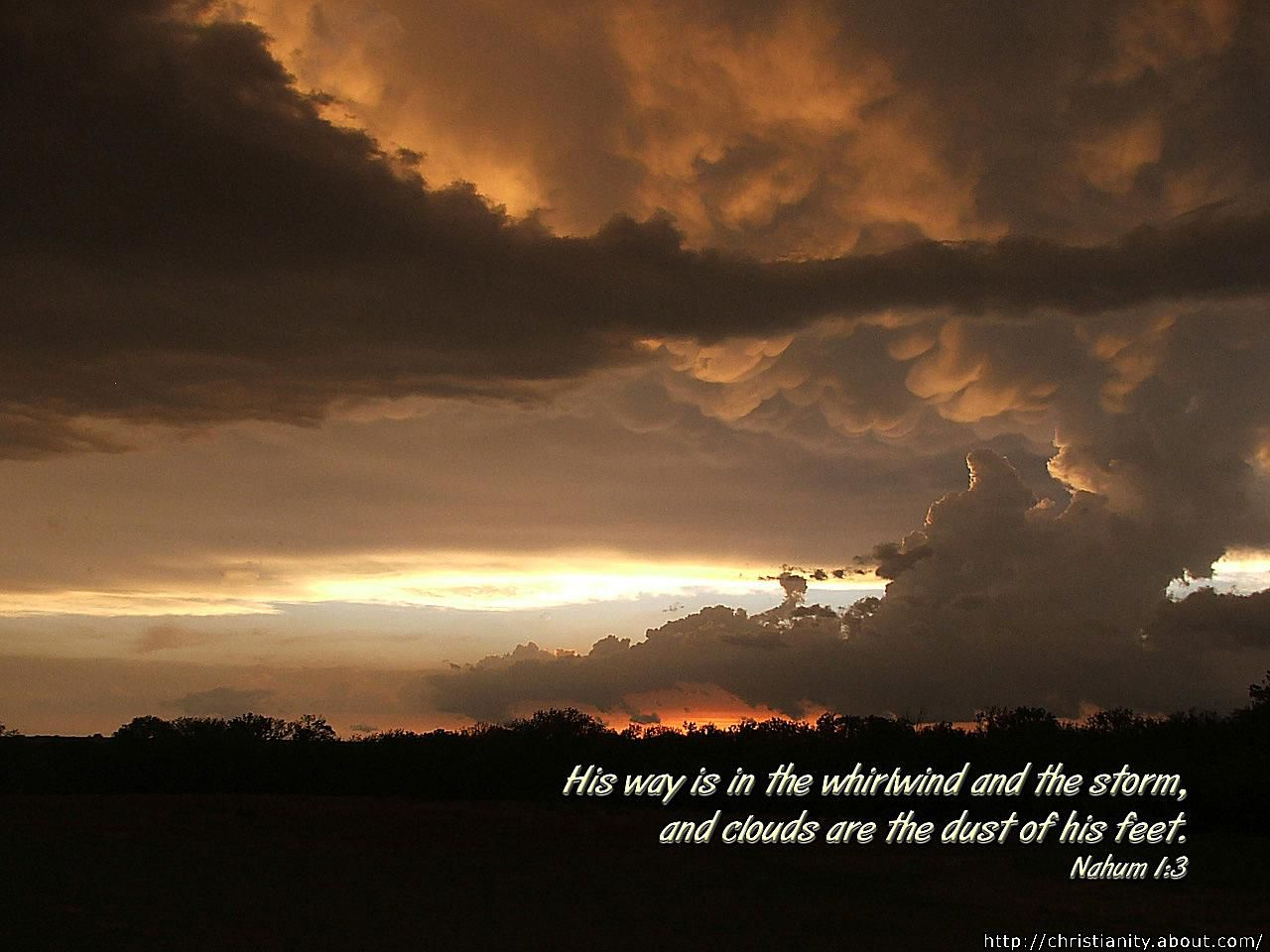 Storm Clouds with bible verse
