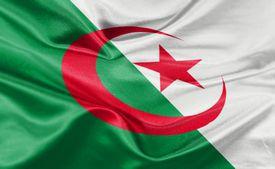 High resolution digital render of Algeria flag