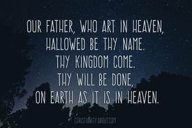 Jesus teaches the Lord's Prayer