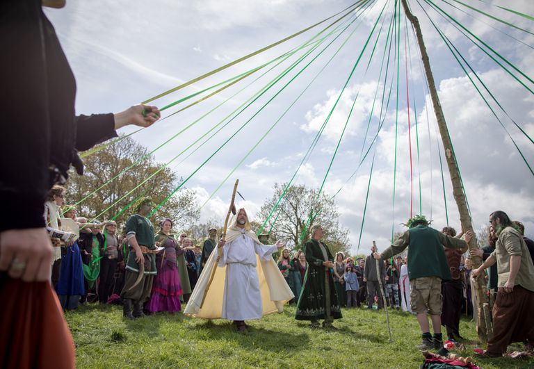 May Day Is Celebrated In Mystical Glastonbury