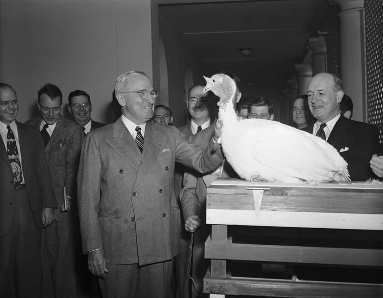 President Truman with White Thanksgiving Turkey