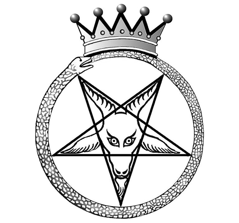 Illustration of Crown Baphomet, the Seal of Satan.