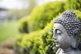 Statue of Buddha in a garden
