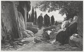 Women at the Tomb of Christ, by Albert Baur, 1882