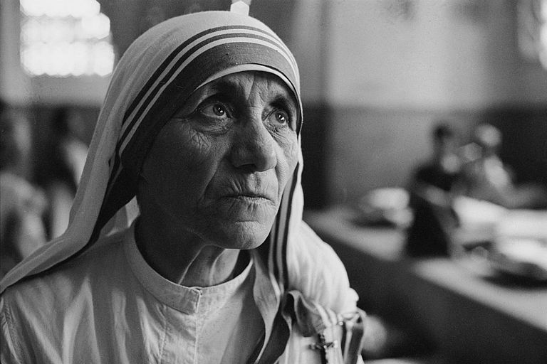 Mother Teresa head shot