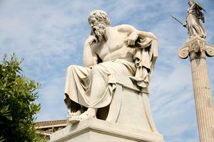 Socrates statue reclining