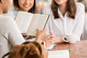 Women participate in Bible study
