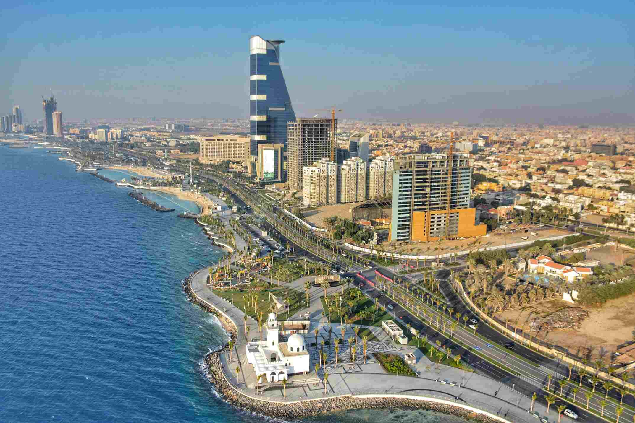 High Angle View Of Cityscape of Jeddah