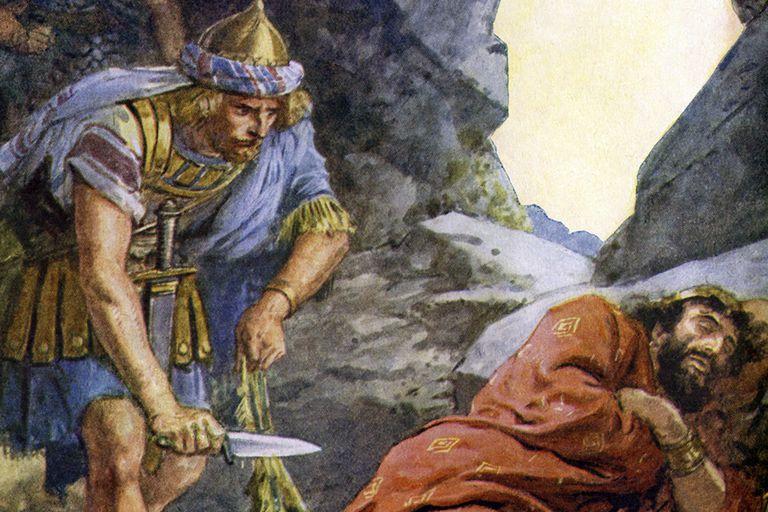 King David Spares Saul's Life
