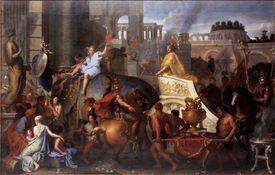 Alexander Entering Babylon (The Triumph of Alexander the Great). Artist: Le Brun, Charles (1619-1690)