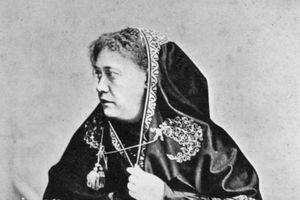 Helena Petrovna Blavatsky, Russian-born American theosophist, 1875