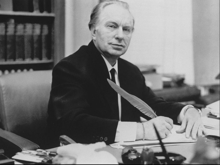 L. Ron Hubbard At Desk
