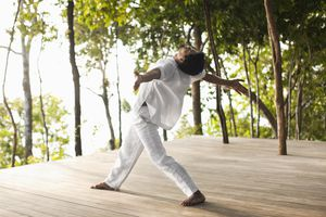 Man Practicing Thai Chi