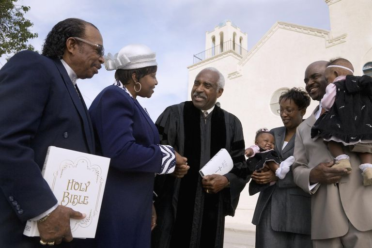 African American church congregation