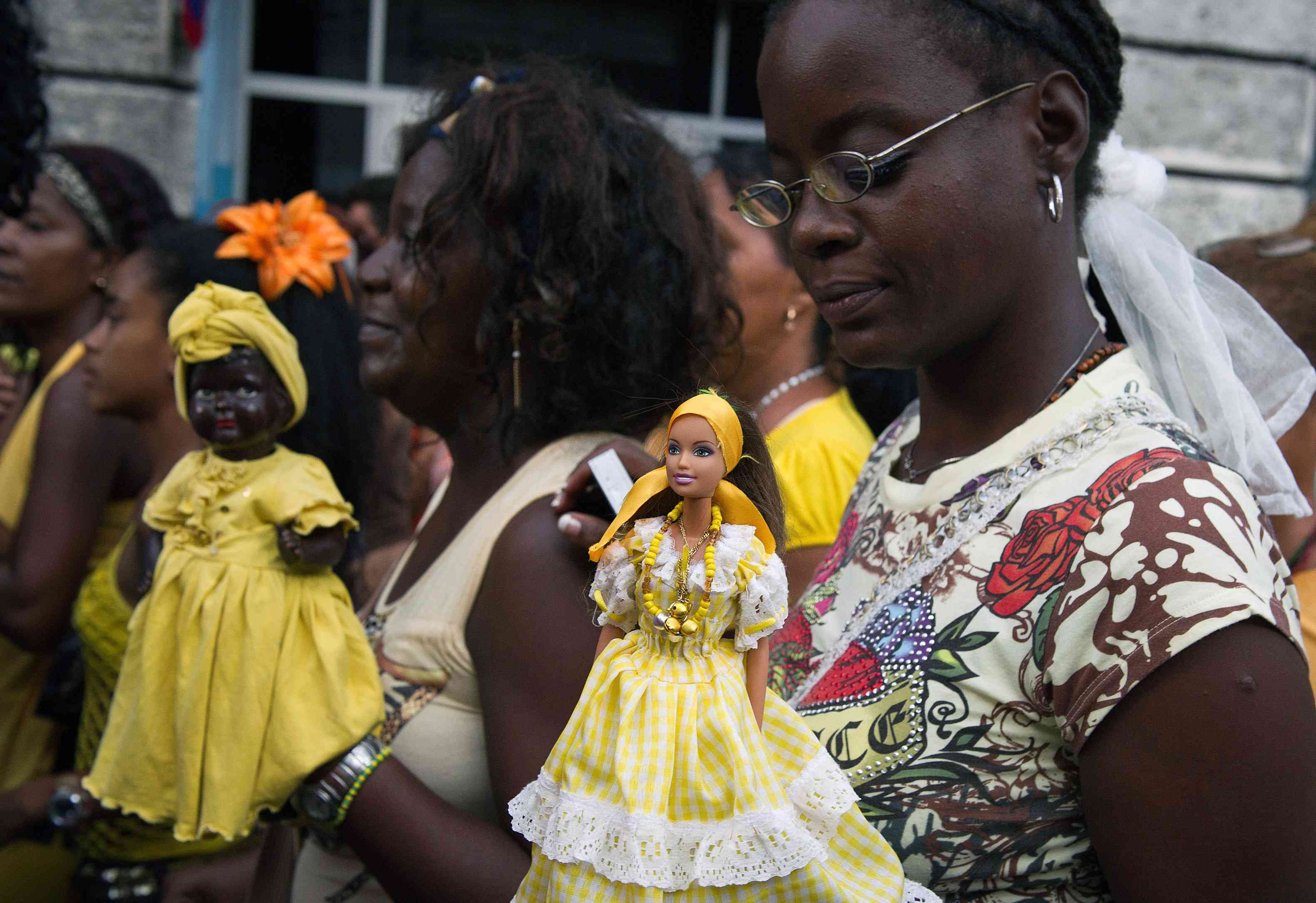 A group of Cuban women take part in the