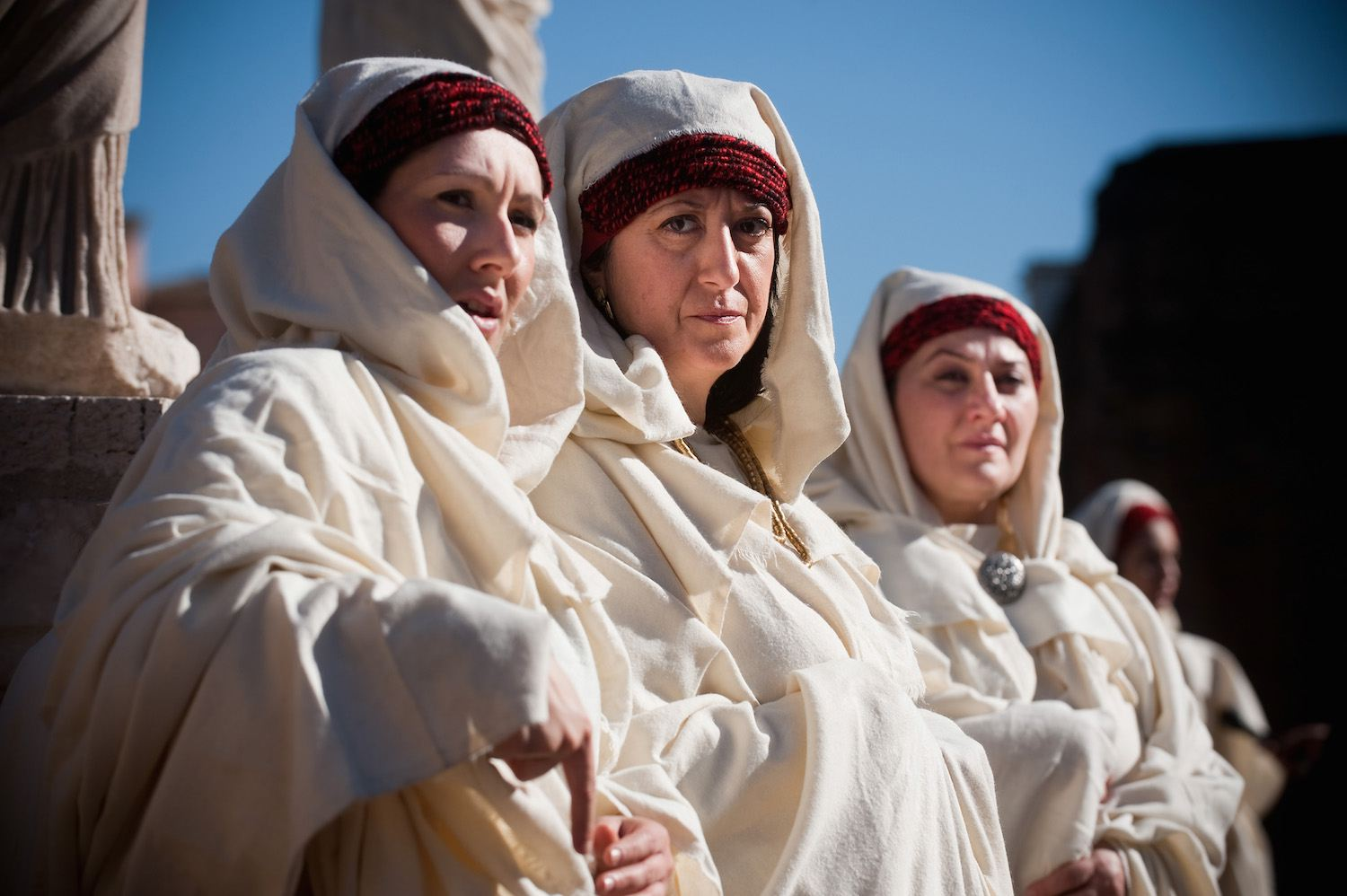 Cloaked Women in Modern Day Rome