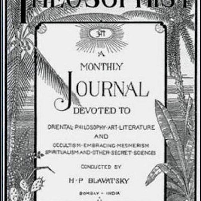 The Theosophist Magazine cover