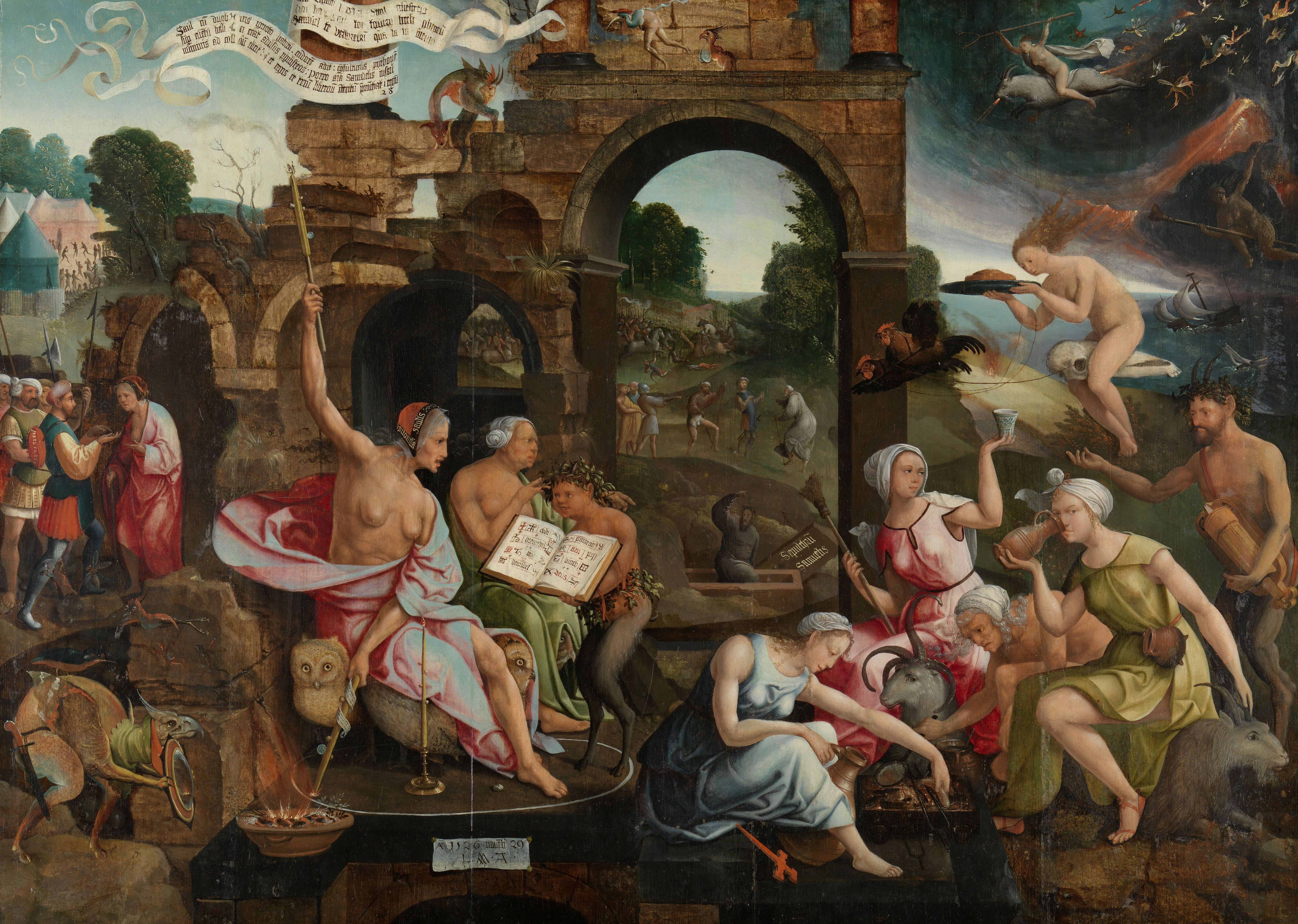 Saul and the Witch of Endor, 1526