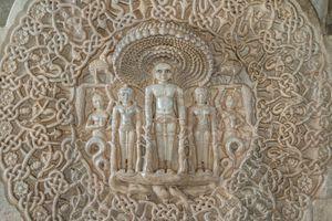 Marble sculptures in Jain temple in India