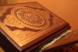 Close up of the Koran