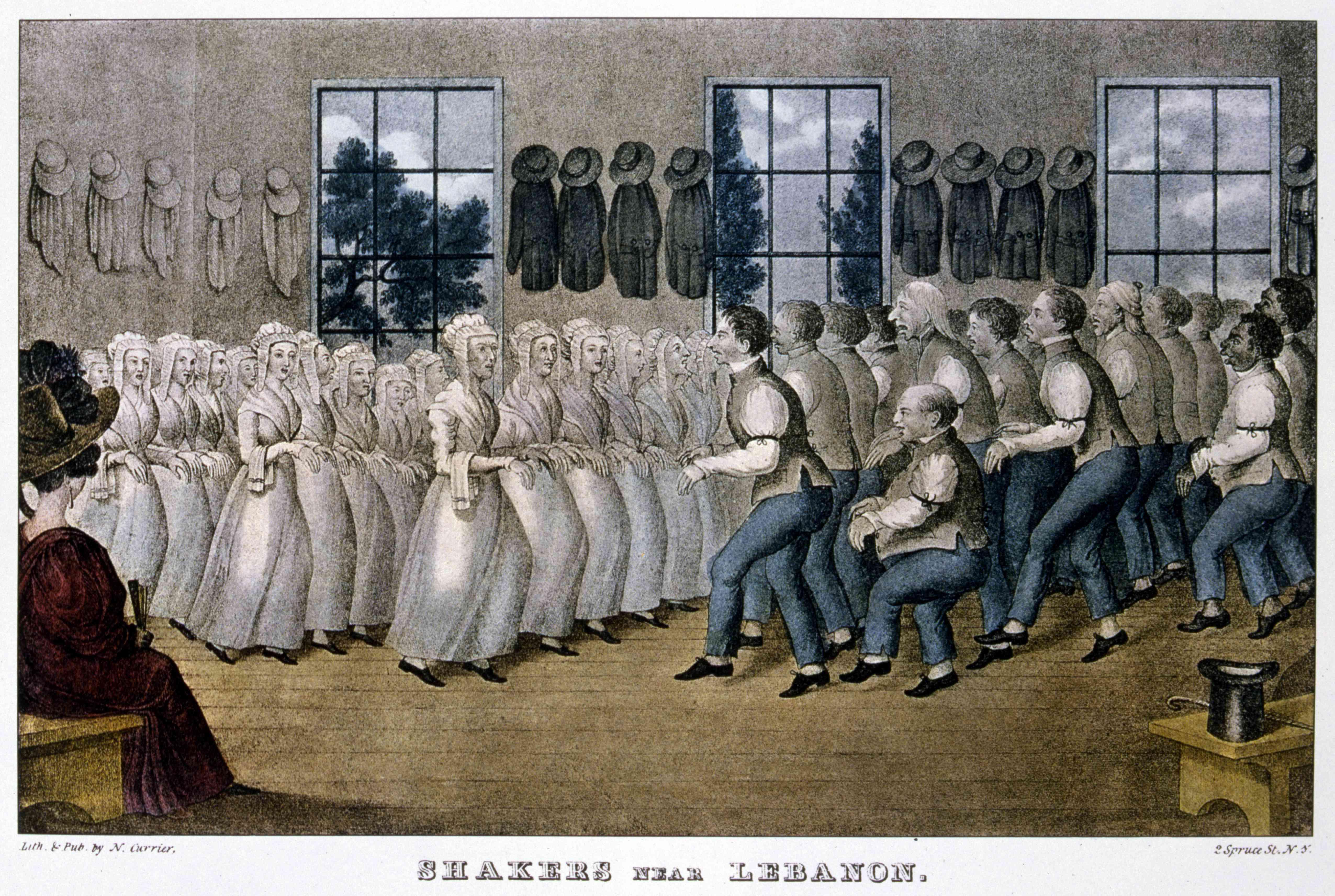 'Shakers near Lebanon', c1870
