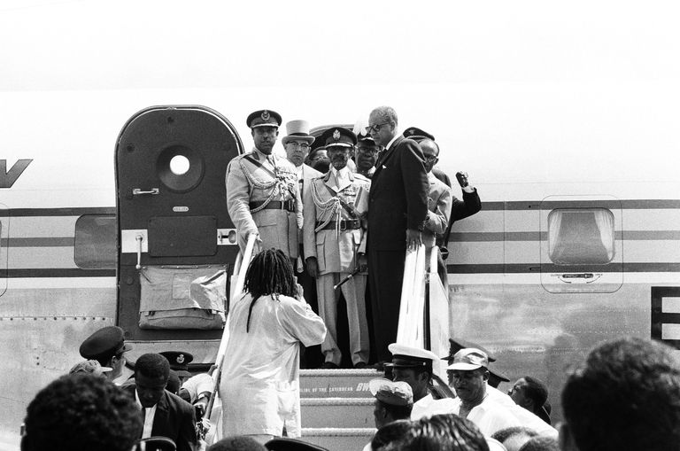 Haile Selassie Arrives In Kingston Jamaica