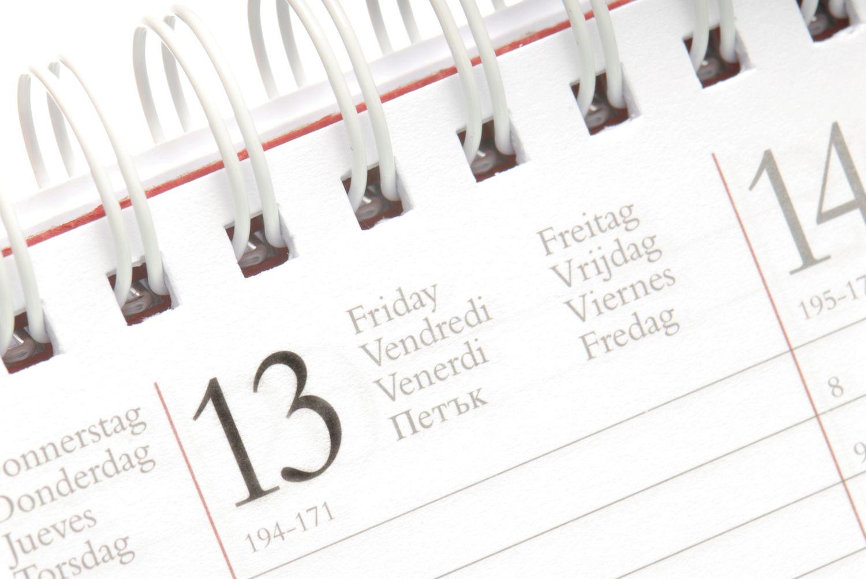 Friday on a calendar
