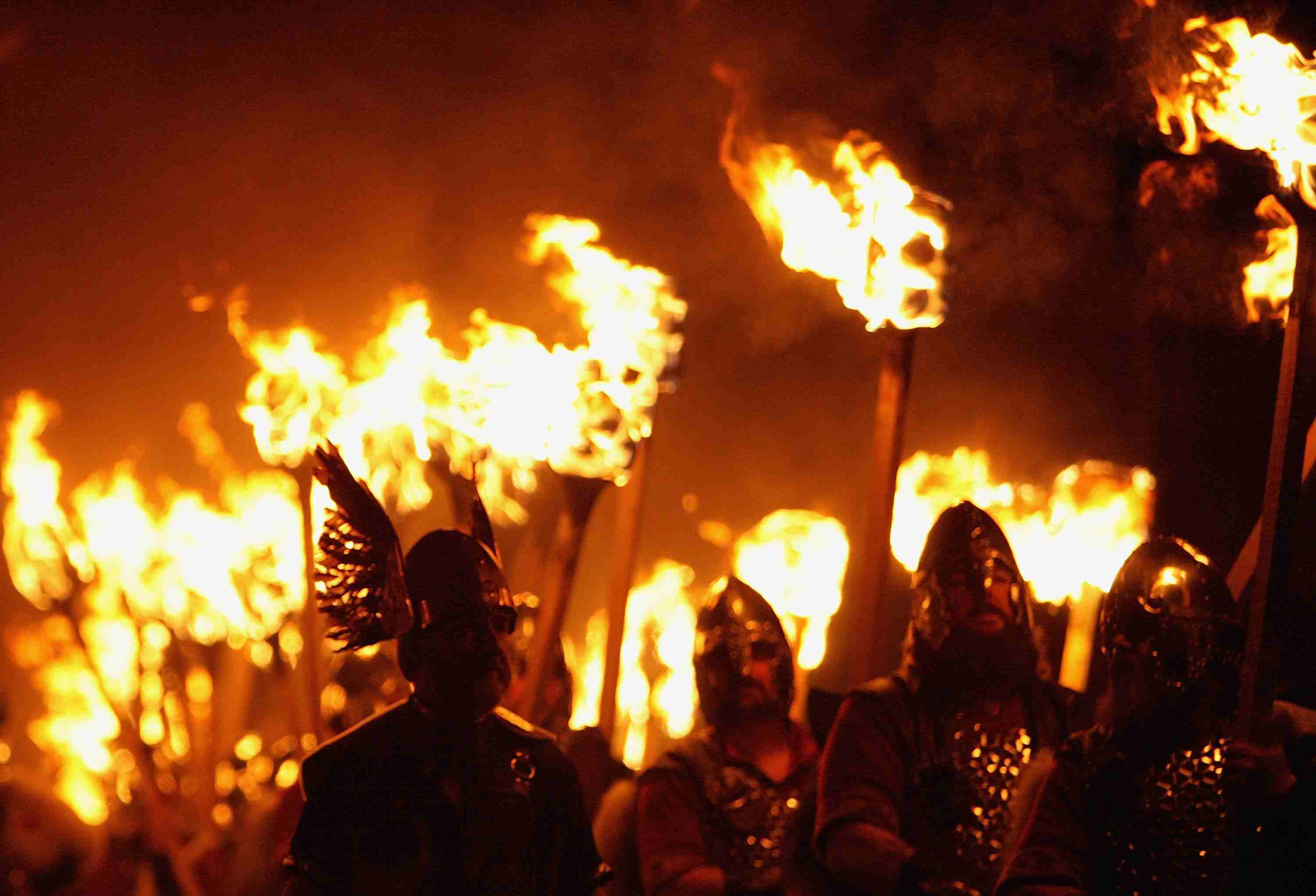 Pagans with torches