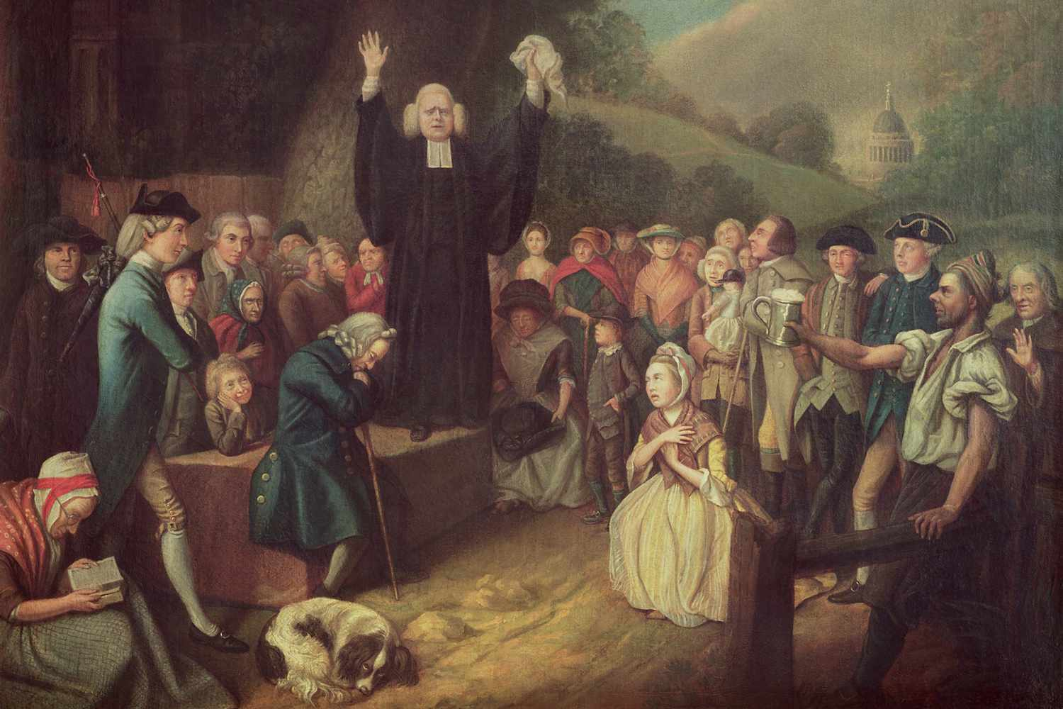 George Whitefield preaching outdoors