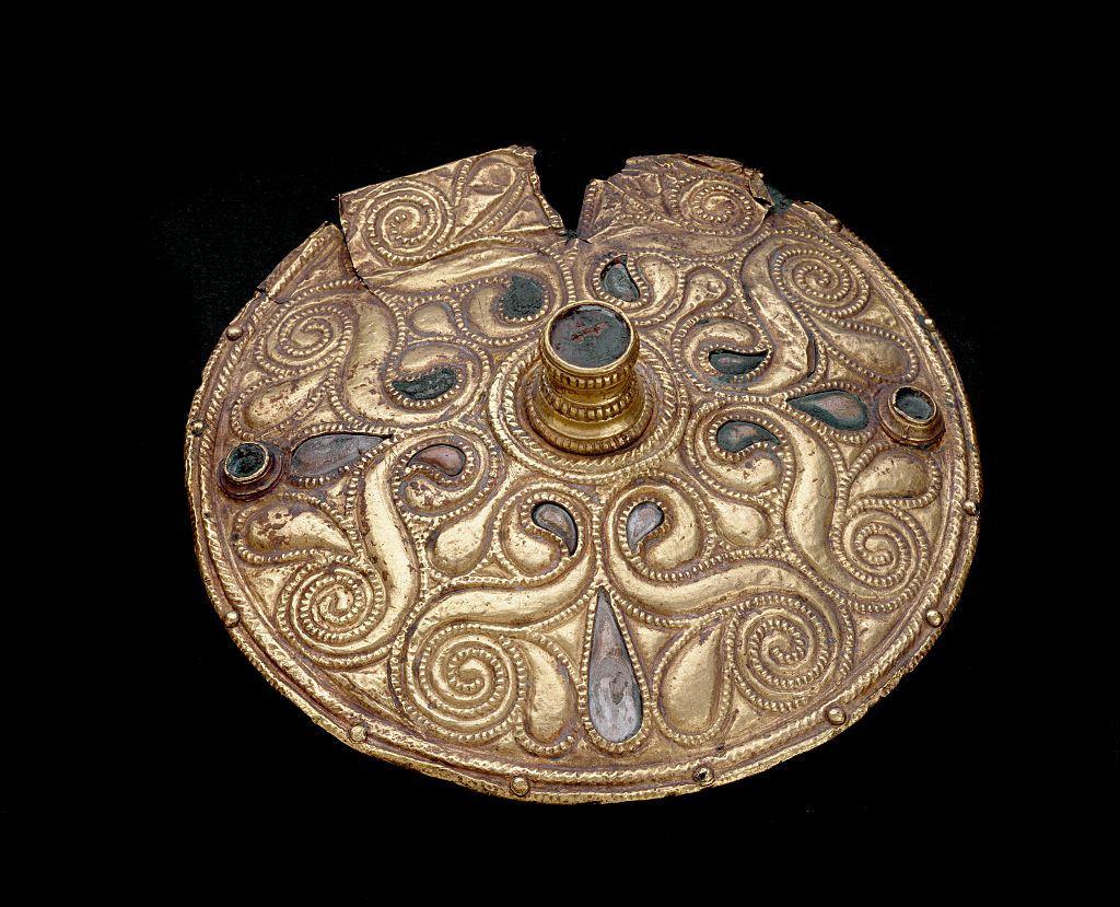 Celtic bronze artwork, gold-plated