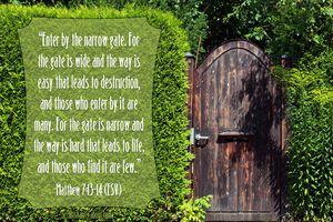 Narrow Path Bible Verse