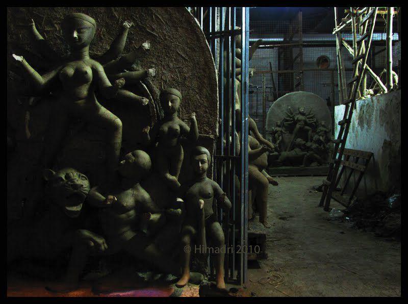 Storage for the Durga idols