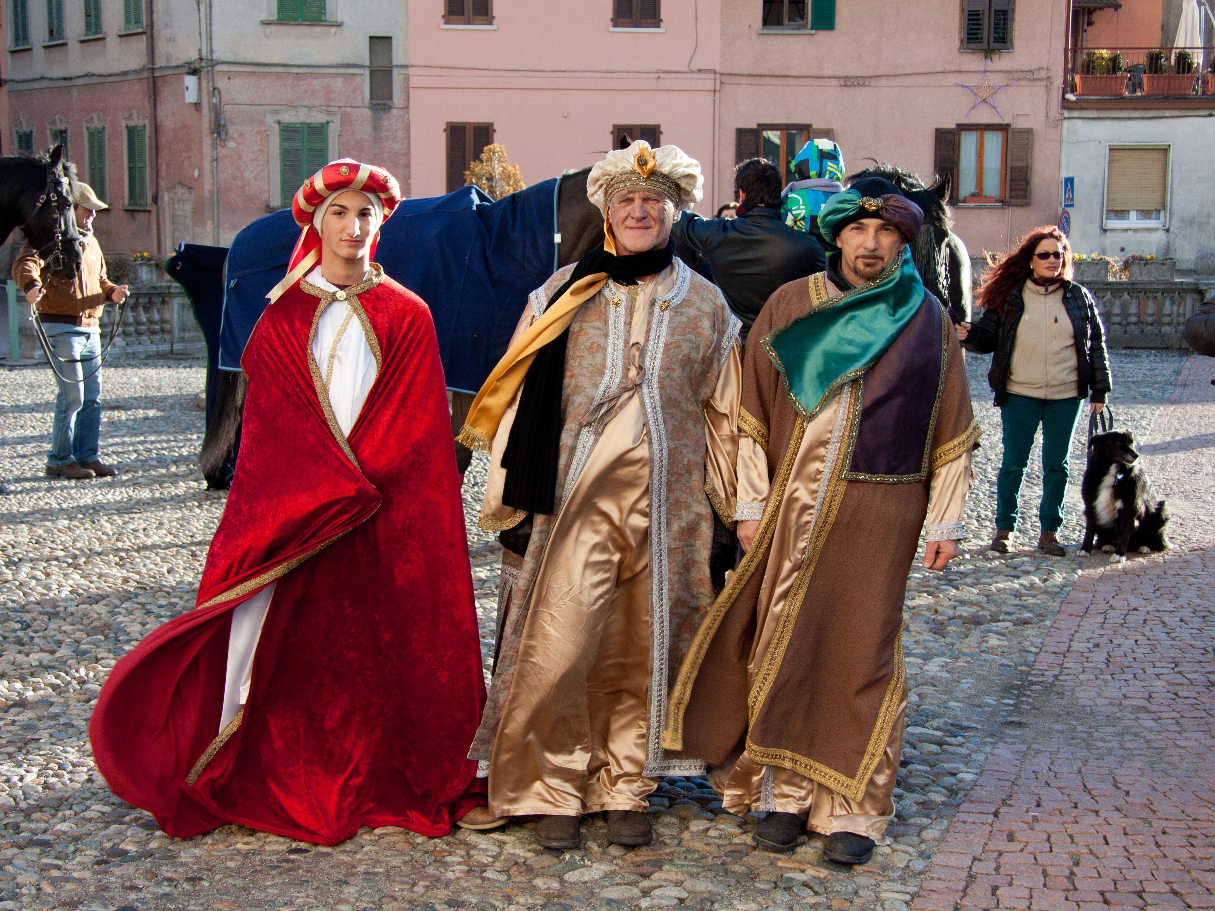 Men dressed as the three Magi