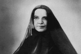 St. Frances Xavier Cabrini (1850-1917), known as Mother Cabrini, the first American citizen to be canonized. She founded the Missionary Sisters of the Sacred Heart of Jesus, and was canonized in 1946. (Photo c. 1900.)
