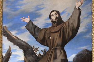 Painting of Saint Francis of Assisi.