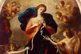 Icon of Mary Undoer of Knots by Johann George Melchior Schmidtner.