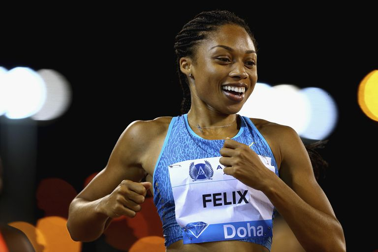 Athlete Allyson Felix at a competition