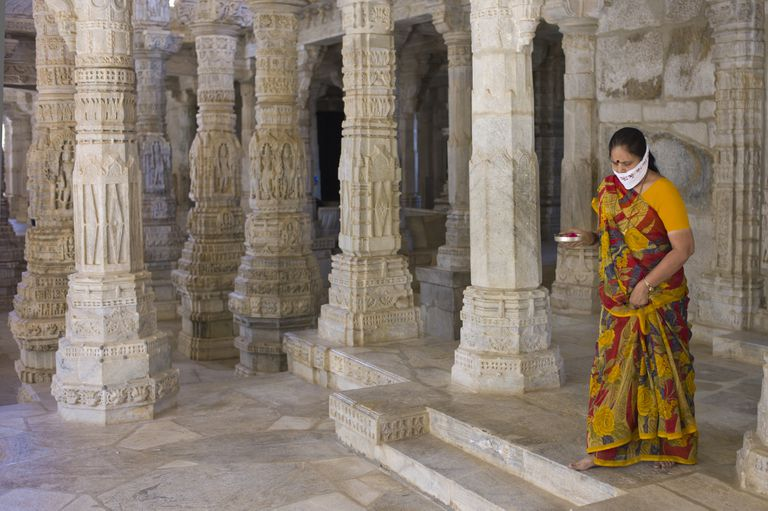 Jain Pilgrim at a temple.