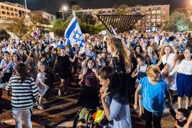 Simchat Torah celebration in Tel Aviv-Yafo, Israel